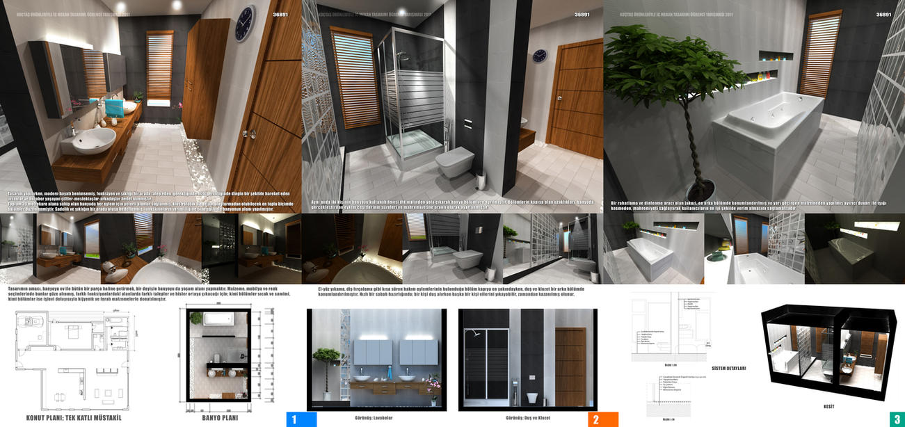 bathroom design competition sheets by omerty - Interior Design Competitions
