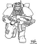 Scout Marine lineart