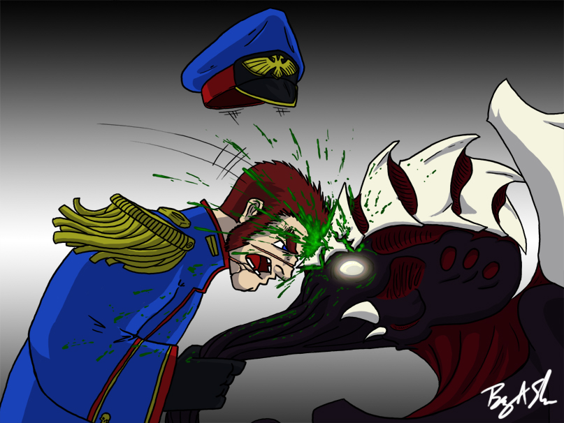 Humour 40K - Page 2 Lictor_Death_by_Headbutt_by_Sheason