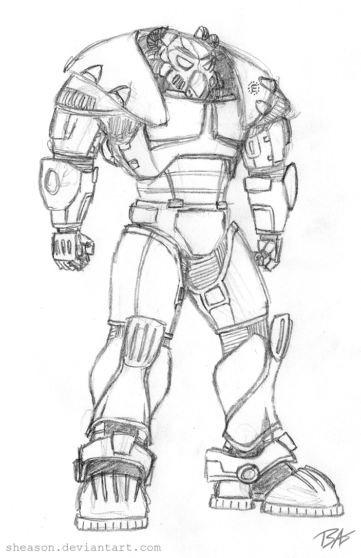 Fallout Power Armor Coloring Coloring Pages