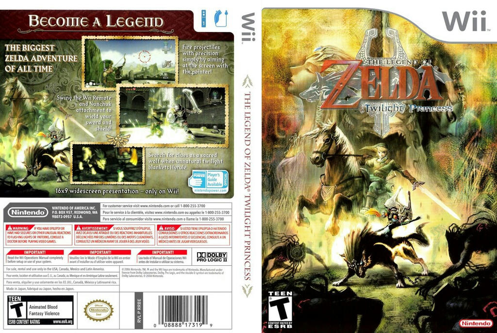 Twilight Art Games Twilight Princess Box Art