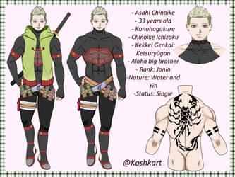 Asahi Chinoike  (Naruto-Boruto oc ) by PieniKat