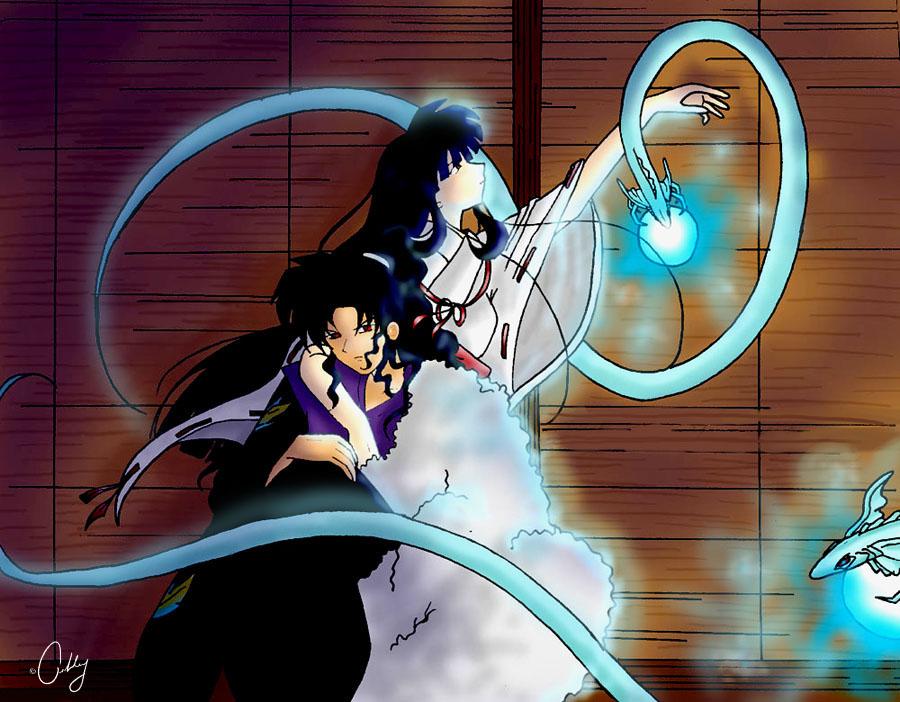 Naraku And Kikyo By AshleysCanvas