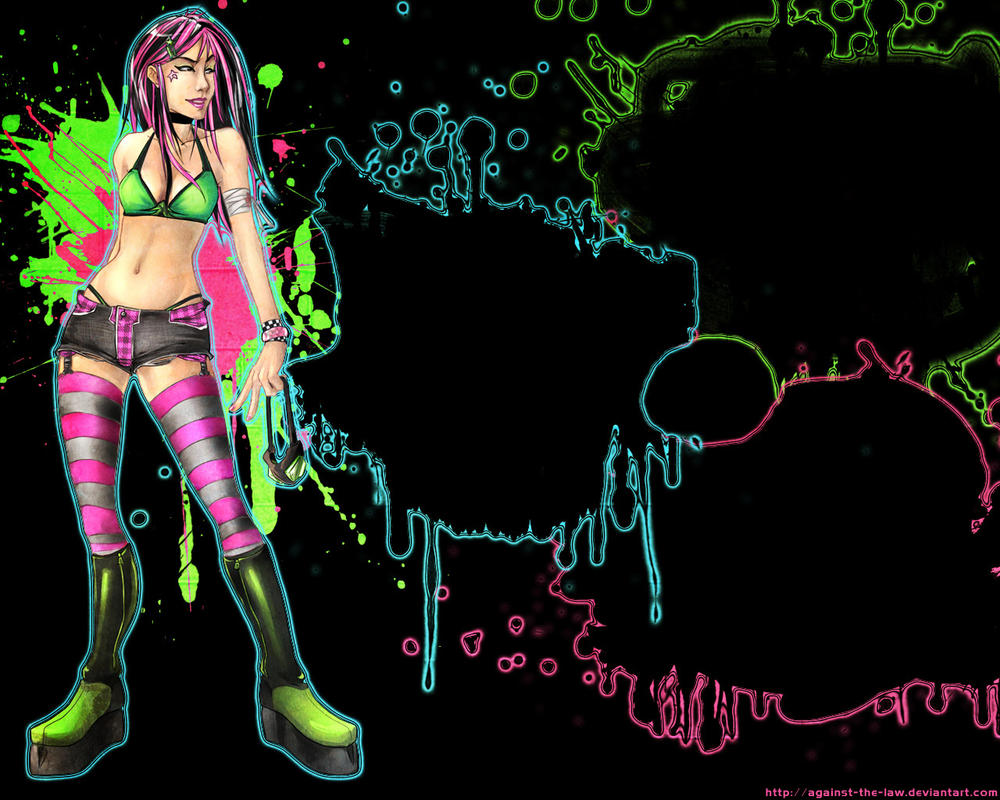 Avenue NEON Wallpaper by against-the-law