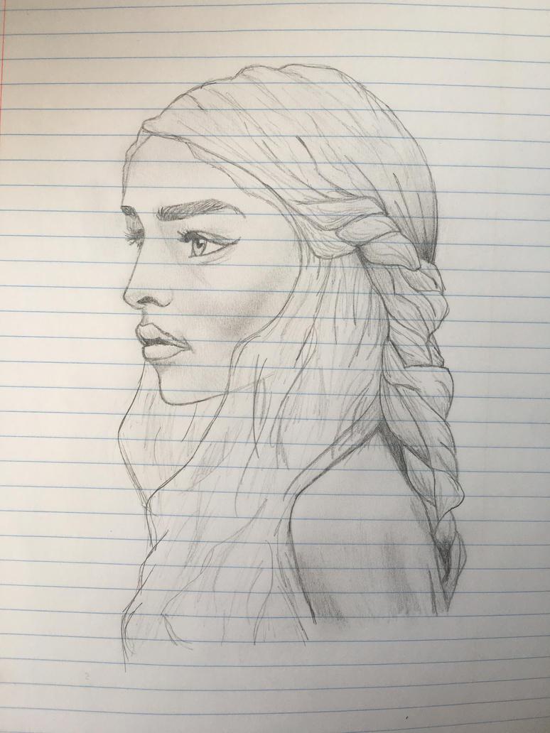 daenerys sketch by ErikNightxTayLautner