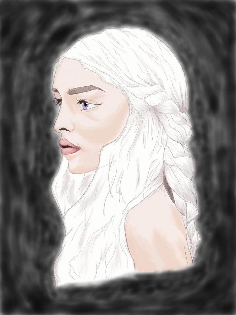 daenerys colored by ErikNightxTayLautner