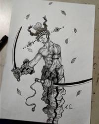 samurai afro by silvacedro