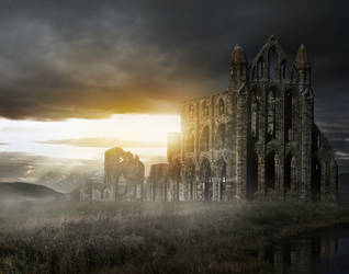 Whitby Abbey by FantasyMaker