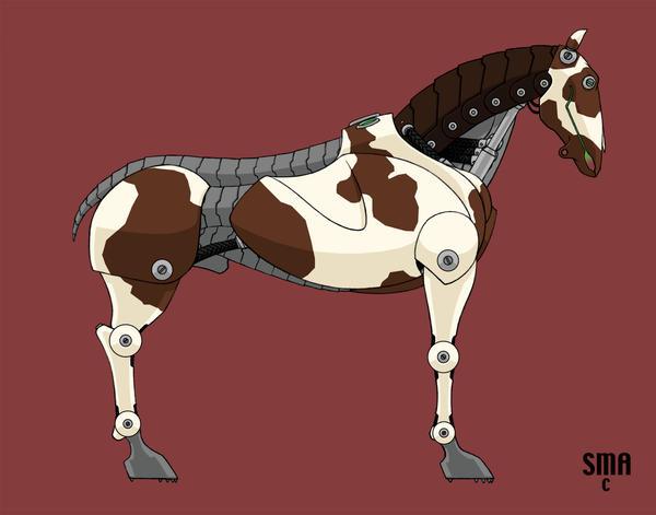Deviantarts Robot Horse: Robot Horse By MunkenDronkey On DeviantArt