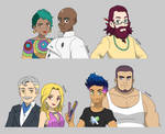 Parents and Friends - Pokemon OCs - Busts by Kyt666