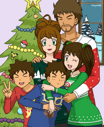 Merry Christmas - Family Pic - StubbornShipping by Kyt666