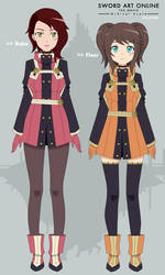 Ruko and Fleur - OCs - Ordinal Scale Ver. by Kyt666