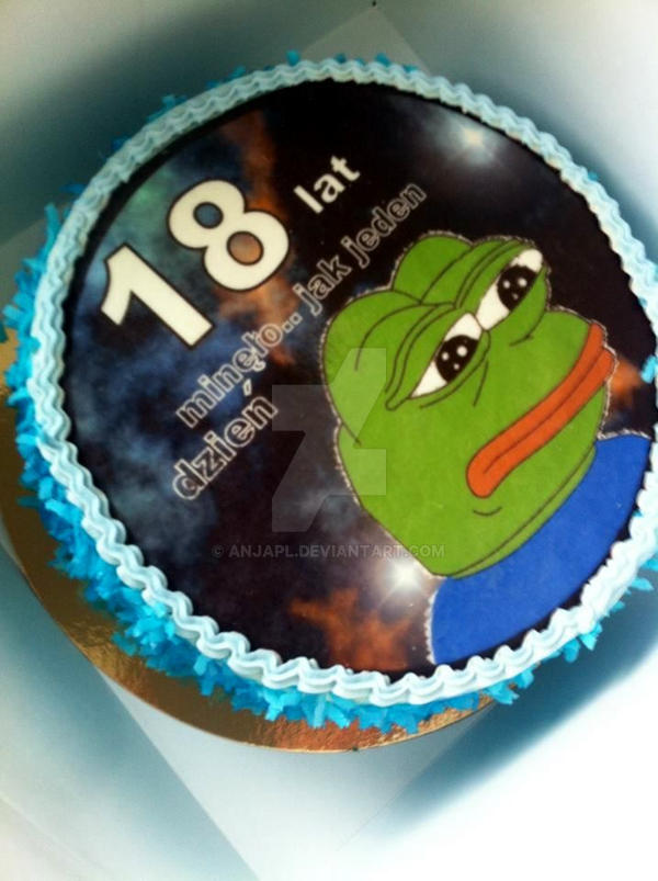 Cake Art Reddit : best bday cake ever - sad frog meme by anjaPL on DeviantArt