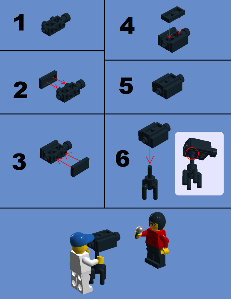 Lego Instructions: TV Camera(s) by SonicTheDashie