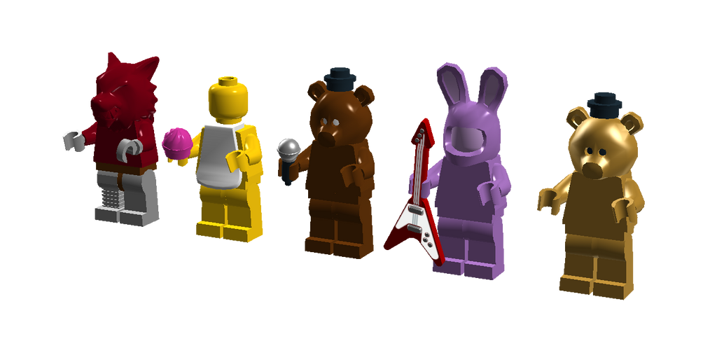 Lego five night s at freddy s minifigures by sonicthedashie on