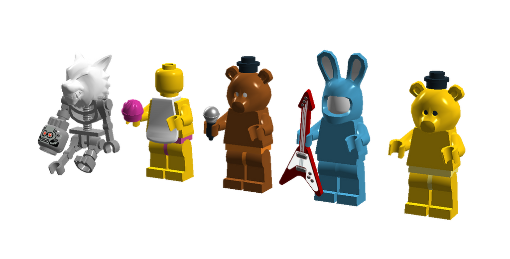 Lego five night s at freddy s 2 minifigures by sonicthedashie on