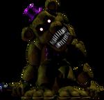 Nightmare Fredbear in FNAF 1 (With sharp teeth)