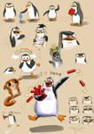 Penguins of Madagascar - sketch dump