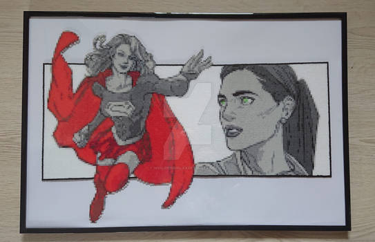 Supergirl and Lena Luthor