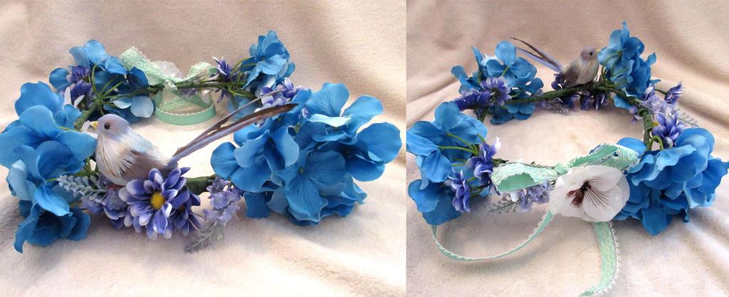 Blue Flower Crown by VanguardWingal