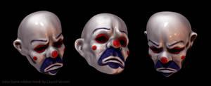 Joker robber mask sculpt