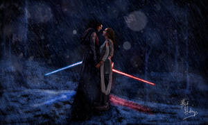 My Drawing of Kylo Ren and Rey