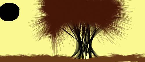 A Dark Hollow Tree by auti98