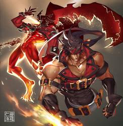 Sol Badguy + Dragon Install by na-insoo