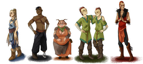 Human Dragons by fUnKyToEs
