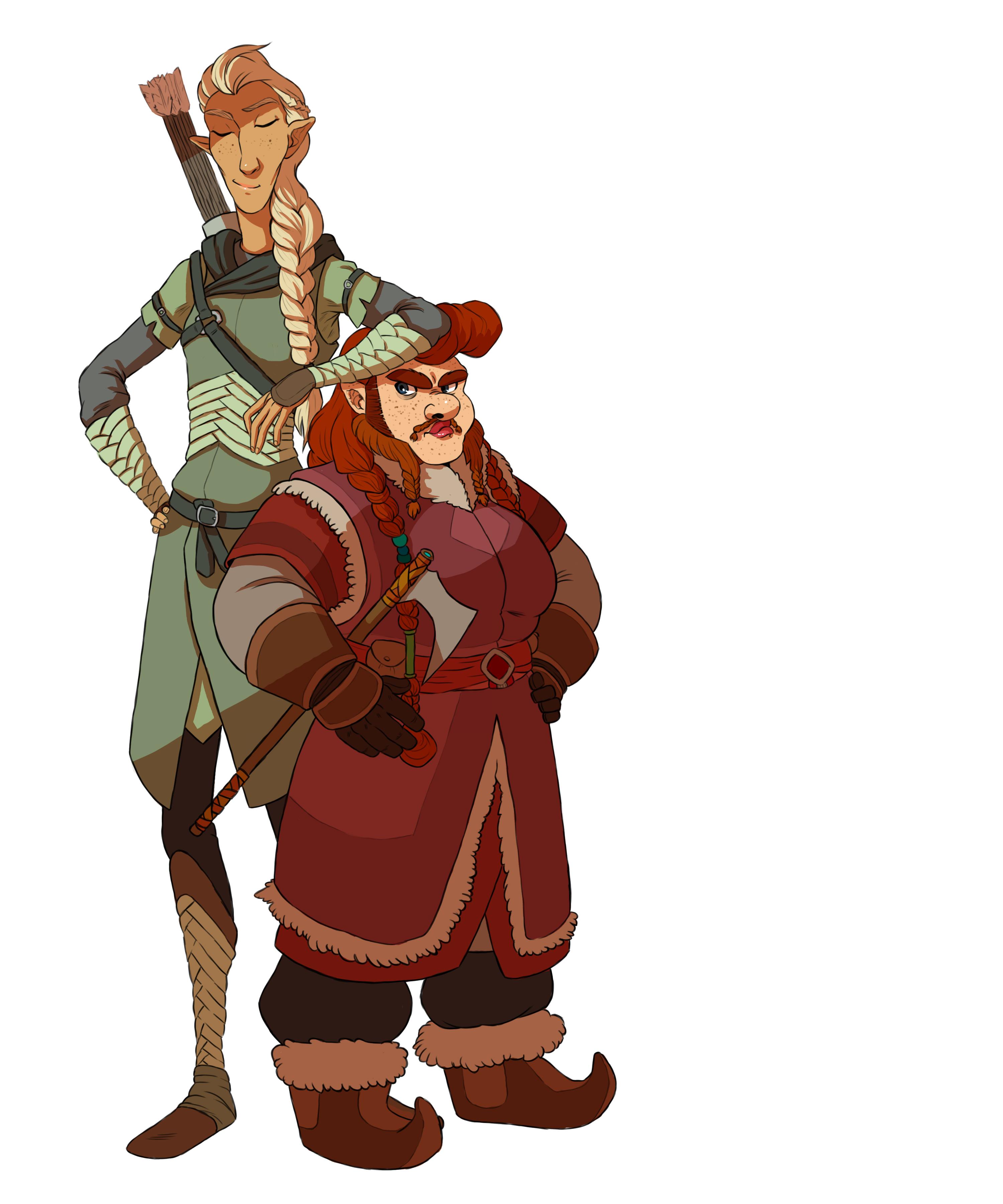 Legolas and Gimli by fUnKyToEs on DeviantArt