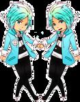 Zodiac Star: Gemini C and P by Tickie-Art