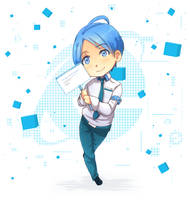 Internet Explorer- b-day gift to ROSEL! by Tickie-Art
