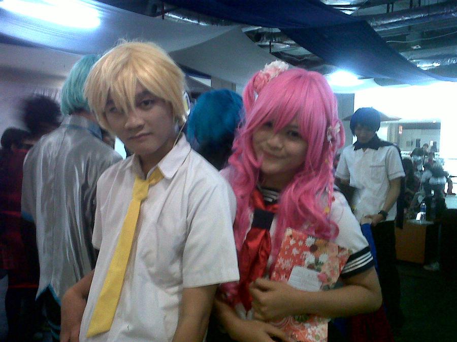 Len and Pinku by kuromeamai