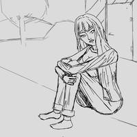 Daydreaming rough sketch by dqube
