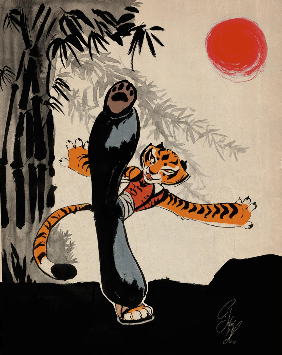 Master Tigress by Crisjofreart