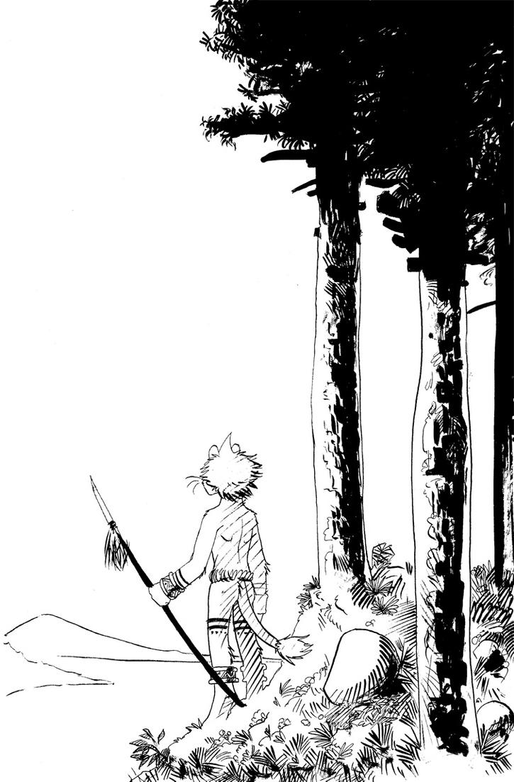 Franko at the forest by Crisjofreart