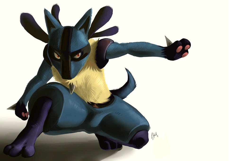 Lucario revisited by Crisjofreart