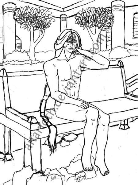 Sketch - Nude Kam'lanaut by Anarloth