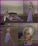 FF XI - OC - Anaryelle, half-Elvaan - at beach by Anarloth