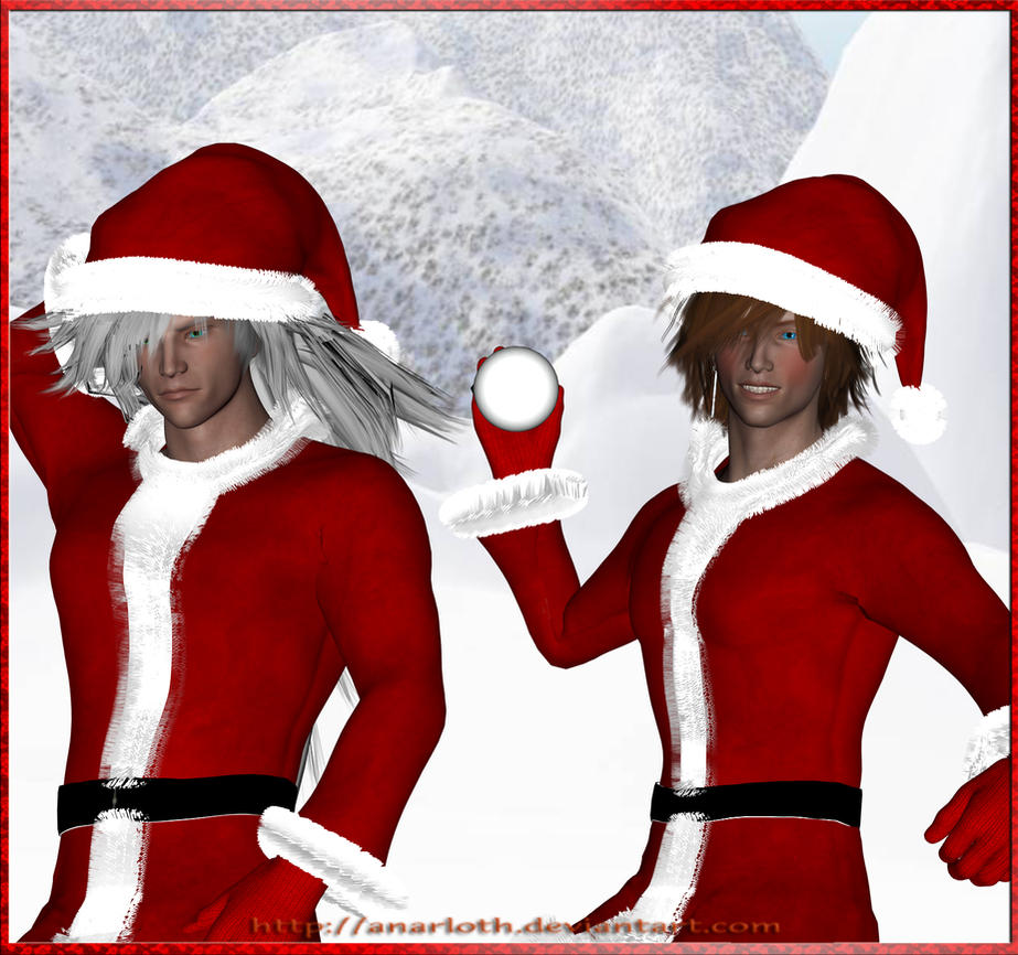 Weiss and Genesis as Santa Claus - 3D by Anarloth