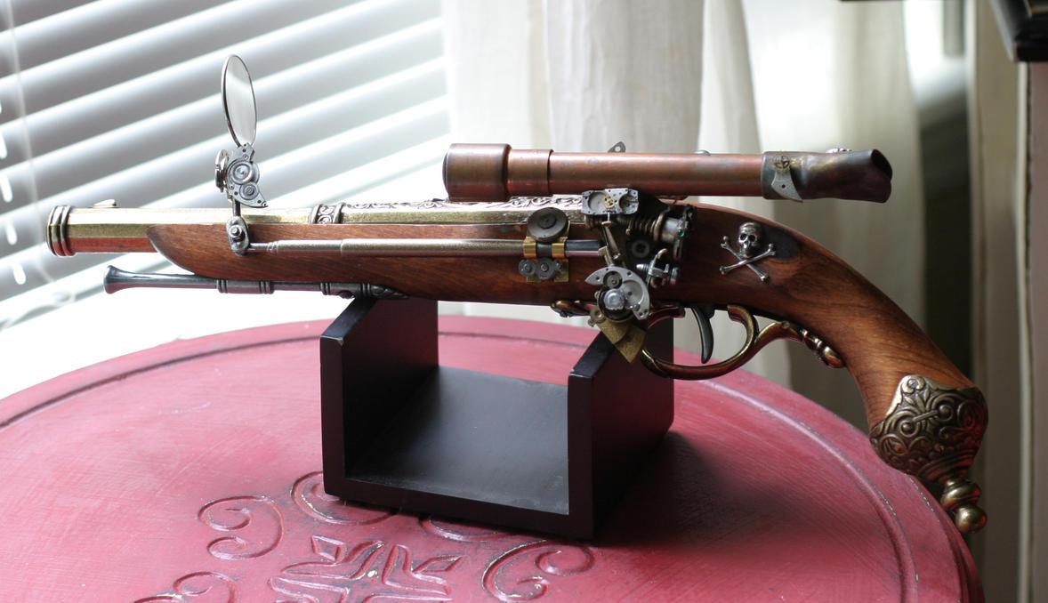 Milícia alvilága Steampunk_Sky_Pirate_Flintlock_by_Frijoleluna
