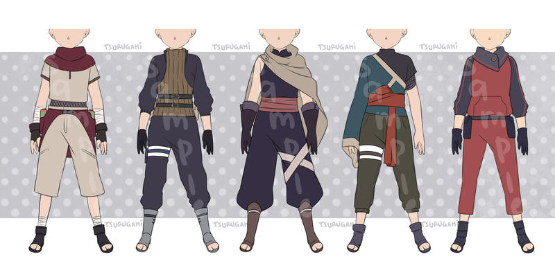 [CLOSED] Naruto / Ninja Outfit Adoptable by tsurugami on DeviantArt