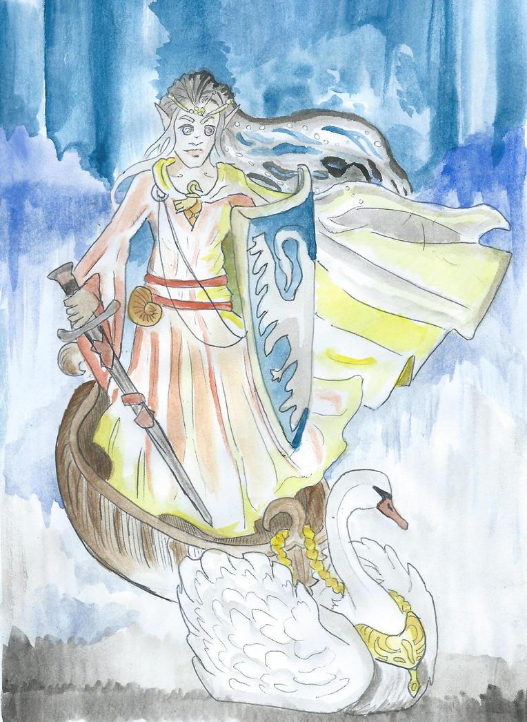 The Swan Shieldmaiden by FaeOfWinter