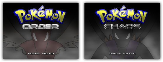 Order and Chaos Title Screens by Rayquaza-dot