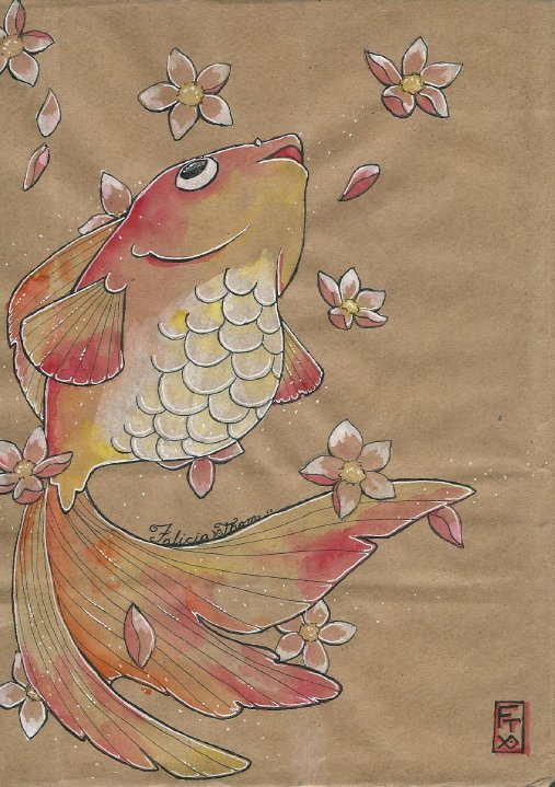 Paper Bag Princess Book Cover ~ Gold fish on paper bag by elfprincessflannery deviantart