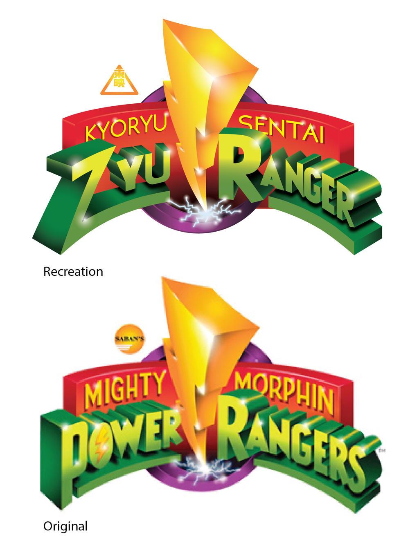 Zyuranger logo MMPR style by TRice01