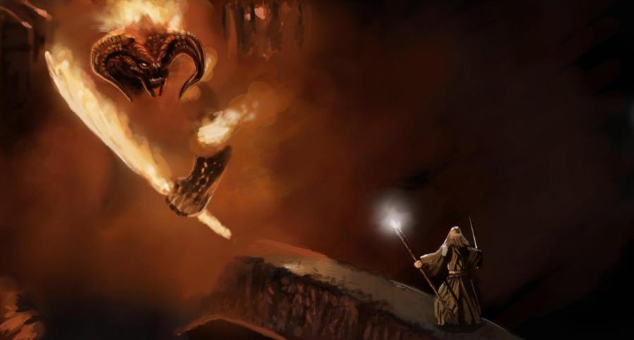 Gandalf vs balrog by lukealagonda