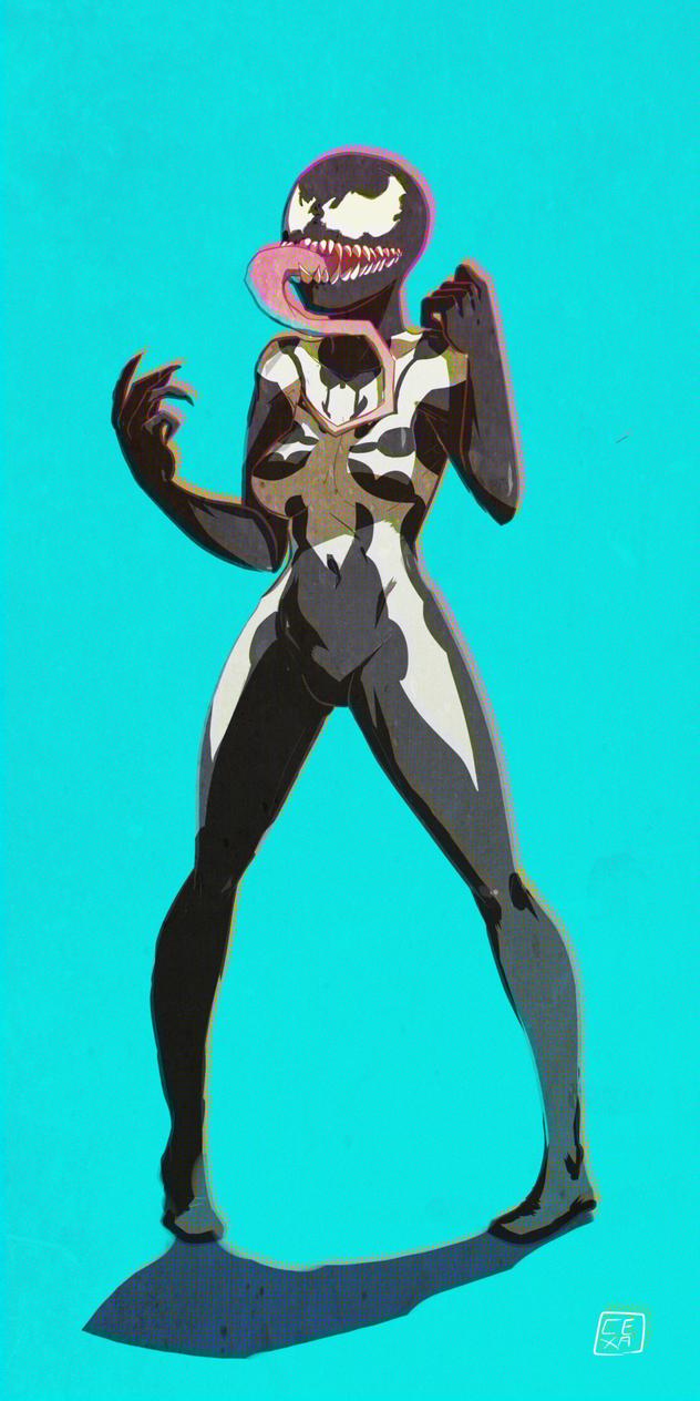 Commision - Venom-chan by curatorEXatrum