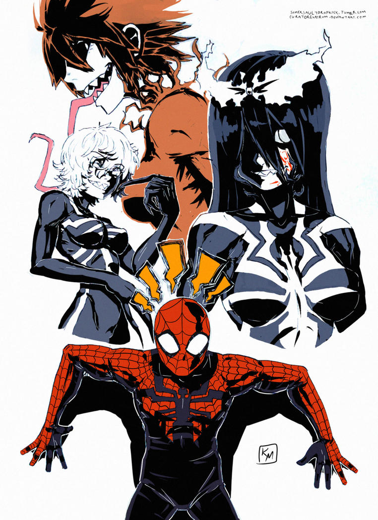 Spiderman - the symbiotes by curatorEXatrum
