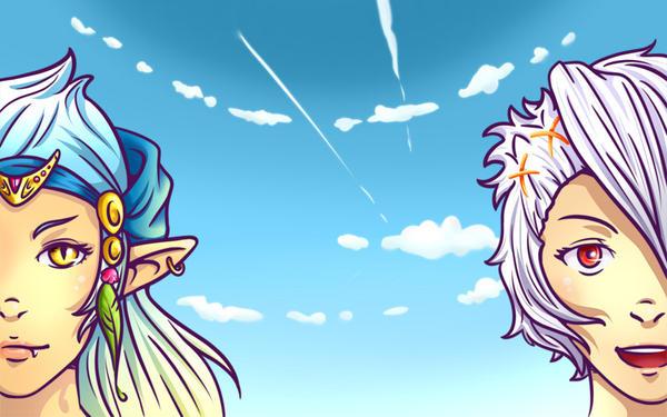 OC Phae and Shira by Phae-Lynn